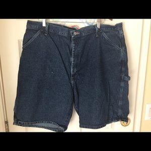 Wrangler Carpenter men's blue Jean shorts size 42